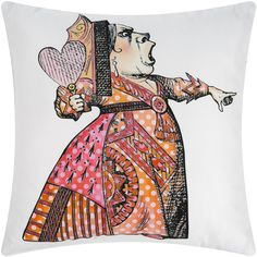 Mrs Moore's Vintage Store - Alice In Wonderland Cushion - Queen of Hearts