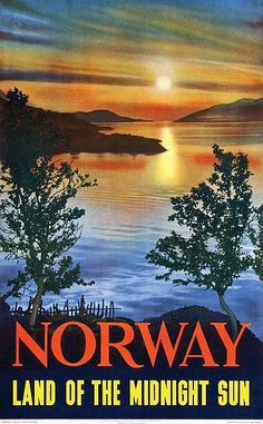 Poster by  Algard (photo) - Norway The land of the midnight Sun - 62x99, 1953 by Algard (photo)