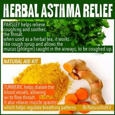 Turmeric and parsley as natural home remedies for asthma!