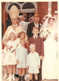 Archbishop Fulton Sheen in El Paso, Illinois for the wedding of his cousin's the Cleary's