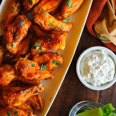 Hot Wings with blue cheese. favorite. food. ever.
