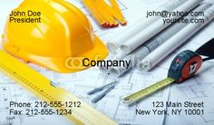 Construction Business Card Templates | Construction Business Cards-Contractor Business Cards-Business Cards ...