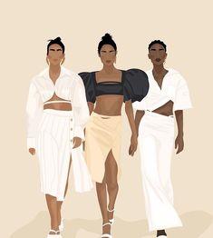 Woman Illustration, Creative Illustration, Best Friend Drawings, Creative Studio, Black Girl Magic, Pattern Art, Strong Women, Girl Power, Art Girl