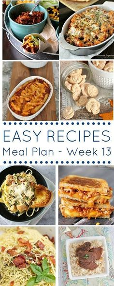 Easy Dinner Recipes Meal Plan {Week 13} - great meal planning ideas on kleinworthco.com