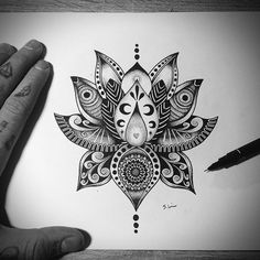 new Ideas for tattoo arm design lotus flowers Mandala Tattoo Design, Flower Mandala Tattoo, Lotus Flower Tattoo Design, Tattoo Flowers, Lotus Design, Lotus Mandala Design, Mandala Tattoo Men, Flower Henna, Trendy Tattoos