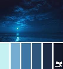 moonlight blues Color Palette - Paint Inspiration- Paint Colors- Paint Palette- Color- Design Inspiration love these blues, especially I'd love to make my accent wall this color Colour Pallette, Color Palate, Colour Schemes, Color Patterns, Color Combinations, Colour Board, Deco Design, Color Swatches, Color Theory