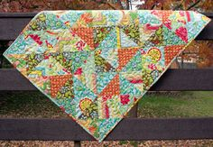 baby girl quilt for crib or wall hanging // by olivetreetextiles, $115.00