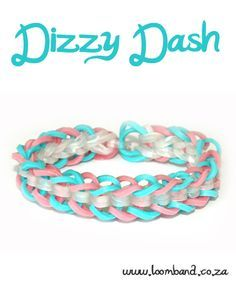 Dizzy Dash brcelet loom band tutorial http://loomband.co.za/dizzy-dash-loom-band-bracelet-tutorial/?utm_content=buffer56f03&utm_medium=social&utm_source=pinterest.com&utm_campaign=buffer