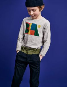 Kid's Wear - Retro Graphic Pioneers by Bellerose Kids Collection, Boys Pants, College Fashion, Stylish Kids, Kid Styles, Summer Kids, Boys T Shirts, Kids Wear, Boy Fashion