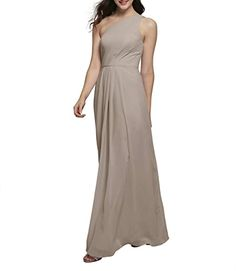 Beautiful Alicepub One Shoulder Chiffon Bridesmaid Dresses Long Formal Dress for Special Ocassion taupe bridesmaid dresses. ($85.99) doodeeshopping from top store Taupe Bridesmaid Dresses, One Shoulder Bridesmaid Dresses, Cute Dresses, Vintage Dresses, Short Dresses, Formal Dresses, Women's Evening Dresses, Ball Gown Dresses, Sexy Backless Dress