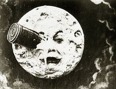 A Trip to the Moon (French: Le Voyage dans la lune; 1902 silent short film, directed by Georges Méliès; it is the earliest known science fiction film and is noted for its innovative special effects) Science Fiction, Fiction Film, Film Science, Hugo Cabret, You Are My Moon, Non Plus Ultra, Photo Vintage, Vintage Images, Illustration