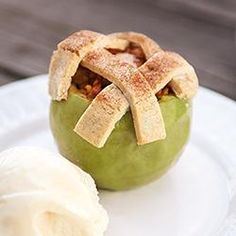 Apple Pie Baked in the Apple: looks so good and I can't wait to try it!