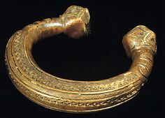 Africa, Sudan, Sudanese Savanna peoples, Mali, Peul peoples, Niger, Songhai peoples  Bracelet retaining the manilla form  19th century  Copper alloy