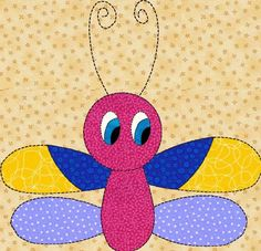 pattern for applique | Bug Applique Pattern for Childrens Quilt in pdf | LinleysDesigns ...