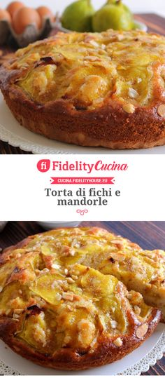 Torta di fichi e mandorle Always Hungry, Sweet Pie, Biscotti, Italian Recipes, Sweet Recipes, Healthy Snacks, Food And Drink, Sweets, Dinner