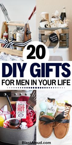 20 Creative and easy DIY gift baskets for men. Spoil the men in your life with these easy DIY gifts that they will absolutely adore! # diy gifts for him Gift Baskets For Men: 20 DIY Gift Baskets For Him That He Will Love Diy Gifts For Men, Diy Gifts For Friends, Easy Diy Gifts, Love Gifts, Men Gifts, Homemade Gifts For Men, Dyi Gift Ideas, Best Mens Gifts, Diy Gifts Creative