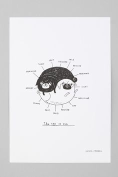 Gemma Correll For Society6 The Tao Of Pug Art Print  #UrbanOutfitters for me!!