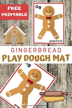 This gingerbread printable playdough mat is a fun addition to your gingerbread theme! Laminate and provide playdough for a fun fine motor experience. #playdough #gingerbread #finemotor #Christmas #printable #preschool #toddlers #age2 #age3 #teaching2and3yearolds Christmas Activities For Toddlers, 3 Year Old Activities, Hands On Activities, Preschool Themes, Toddler Preschool, Preschool Activities, Merry Christmas, Christmas Crafts, Time Planner