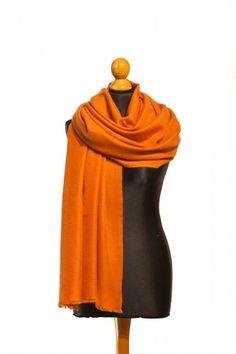Kaschmir Pashmina Damenschal in der Trendfarbe Rost