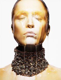 Raquel Zimmermann by David Sims for Alexander McQueen