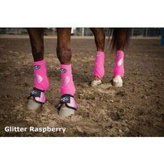 Professionals Choice VenTECH SMB Boots 4-PK - Horse.com Horse Boots, Horse Tack, Barrel Racing Tack, Western Riding, Horse Accessories, Hunter Boots, Rubber Rain Boots, Horses, Pink Glitter