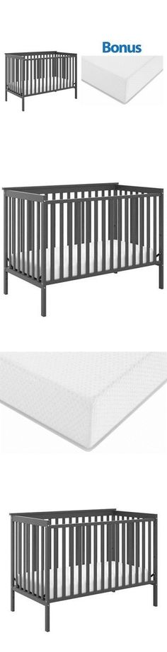 Cribs 2985: Convertible Baby Crib 4-In-1 With Bonus Premium Mattress Sheffield Ii Kid Bed -> BUY IT NOW ONLY: $133.87 on eBay!