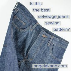Also the best for Regular Denim Jeans! Free Jeans Tutorials and Sew Alongs for Jeans Zip Fly, Jeans Pockets, Jeans Buttonhole Stitching. Sewing Jeans, Pdf Sewing Patterns, Denim Jeans, Good Things, Stitching, Pants, Tutorials, Pockets, Zip