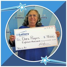 """Dora Rogers of #Dubuque claimed an $18,000 top prize she won playing the """"Win It All"""" scratch game! Congrats! #WooHooForYou She purchased the lucky ticket at Kwik Stop, 1210 E. 16th St. in Dubuque. Pinch Me, Winning The Lottery, I Win, Ticket, Pixie, Magic, Game, Movie Posters, Top"""