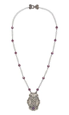 Jewelry Design - Single-Strand Necklace with PMC3™ Precious Metal Clay, Swarovski® Crystals and Cubic Zirconia Faceted Gem - Fire Mountain Gems and Beads