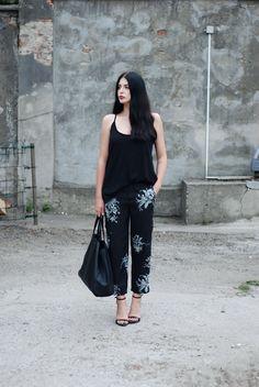 Zara pants, sandals and top, Mumu  bag