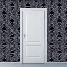 skull removable wallpaper