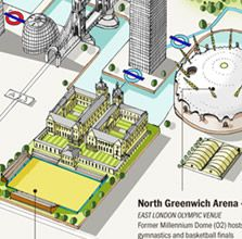 This is brilliant: Olympic Venues in London infographic from LondonTown.com: