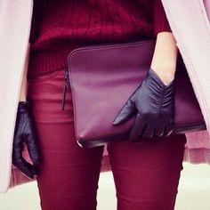 Тренды осени: бордо и фиолетовый