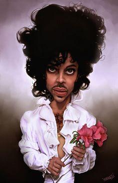 Caricatura de Prince.