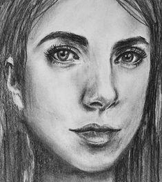 Realistic Drawing Ideas Realistic portrait drawing by Erika Lancaster - Drawing tips Realistic Rose, Realistic Drawings, Cool Drawings, Simple Drawings, Sketchbook Inspiration, Art Sketchbook, Drawing Tips, Wall Drawing, Drawing Tutorials