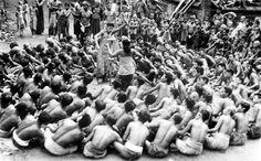 Balinese dancing the kètjak dance