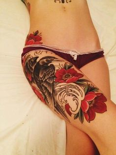 Thigh Tattoo Designs for Women1 (2)