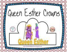 These Esther crowns are a part of a preschool lesson we did at home. There are more ideas and printables for Q is for Queen Esther. The download includes both the color and black & white versions. We added jewels, but you can add stickers, etc. if you'd like to.