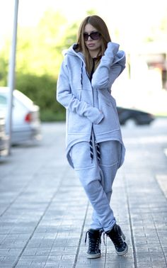 Hey, I found this really awesome Etsy listing at https://www.etsy.com/listing/400799399/grey-hooded-zipper-sports-jacket-grey