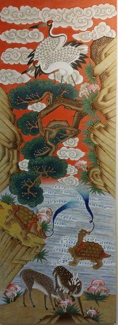 제6회 대한민국 전통채색화 공모대전 입상작과 특별 초대작가전 : 네이버 블로그 Chinese Element, Chinese Art, Korean Art, Asian Art, Oriental, The Magic Flute, Korean Painting, Korean Products, Modern Pictures