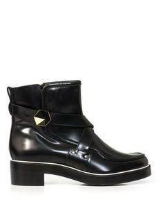 The A to Z of Shoe Shopping: K is for Nicholas Kirkwood  - hexagon biker booties - fall 2013