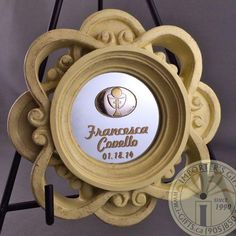 BOMBONIERE  from Importers Gifts ! A child's First communion is a very important event. Commemorate it with a custom communion plaque containing Argento 925 I italian silver. We can customize and decorate to your liking. Italian Bomboniere make a very beautiful party favor for each guests to be reminded if the holy sacrament. First Communion Favors, First Holy Communion, Special Day, Holi, Party Favors, Decorative Plates, Invitations, How To Make, Silver