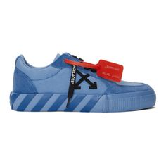Off-White SSENSE Exclusive Blue Low Vulcanized Sneaker Virgil Abloh, Kinds Of Shoes, Canvas Sneakers, Shoe Game, Reebok, Me Too Shoes, Off White, Fashion Inspiration, How To Look Better