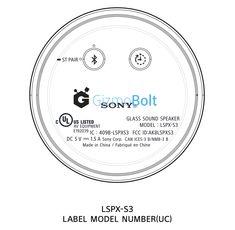Sony LSPX-S3 Glass Sound Speaker passes FCC certification - FCC ID AK8LSPXS3 Sound Speaker, Tech Updates, Check It Out, Sony, Glass, Drinkware, Corning Glass, Yuri