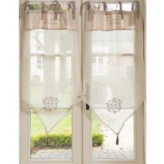 Love the curtains....would be cute in our bedroom!   Decor and More ...