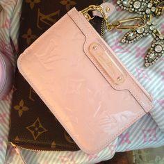 Louis Vuitton rose ballerine card holder