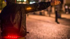 Cycling in the dark? #STAYSAFE with a #WearableCoat with embedded LEDs bit.ly/1NX7OMe