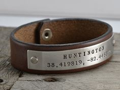 Mens Personalized Leather Bracelet Handcrafted In Idaho Usa Bracelets Pinterest And Fashion