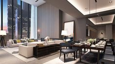 Soori High Line - Type H Unit - Living & Dining areas
