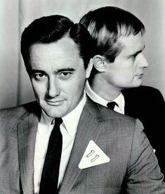 "Robert Vaughn and David McCallum in a publicity still from ""The Man From U.N.C.L.E. (1966)"